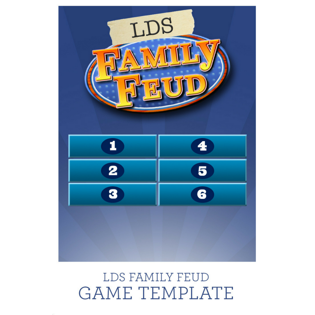 family feud game template life on purpose academy