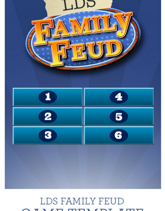 Lds Family Feud Template