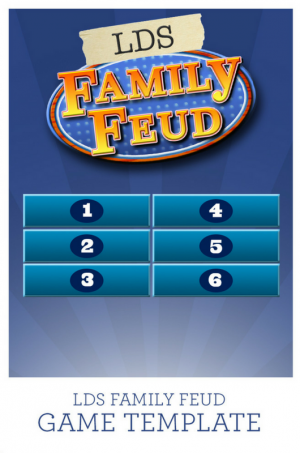 LDS Family Feud Game Template